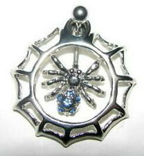 Belly Bar Spider In a Web 14g 316 Stainless Steel