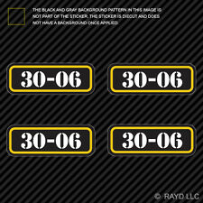 (4x) 30-06 Ammo Can Sticker Set Decal adhesive molon labe bullet 30 06 type 2