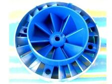 LEGO TECHNIC 10 X 10 BLENDED BLUE CENTRE FAN 53983 53983px2 USED - VGC