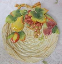 Fitz & Floyd Classics Porcelain Serving Platter Plate Fruit Basket