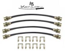 Kenjutsu Uprated Stainless Braided Brake Line Hose Set- For Datsun S30 240Z L24
