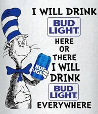 Cat in the Hat Bud light Beer  STICKERS DECALS tool box refrigerator