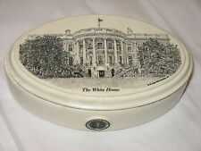 John Wills Studios Etched Cultured Marble Box White House DC Prez seal made USA