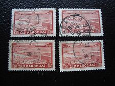 MAROC - timbre yvert et tellier aerien n° 36 x4 obl (A29) stamp morocco
