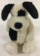 Gorgeous Jellycat Bashful Puppy In Cream With Black Patches