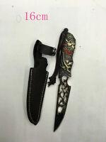 USA Japanese Silver Wolf Crossfire Miniature Replica Knife Sword with Sheath