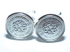 80th Birthday 80th Anniversary threepence 3d coin cufflinks from 1940 coin slv