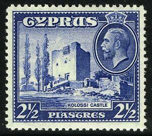 SG 138 CYPRUS 1934 - 2.5pi ULTRAMARINE - MOUNTED MINT