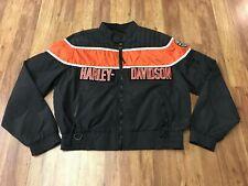 MENS XL - Vtg 80s 90s Harley Davidson Motorcycle Biker Nylon Bomber Jacket USA