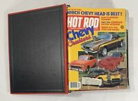 HOT ROD & CUSTOM MAGAZINE LOT OF 18 ISSUES JAN 1983- JUN 1984 HOT ROD RED BINDER