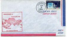 FFC 1984 First Flight Rockford Illinois Madison US Postal Service USPO