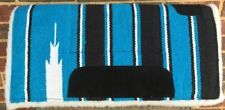"Western Pony Saddle Pad - SW Design Wool/Poly 21"" x 21"" - Blue/Black New"