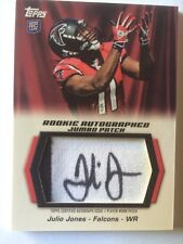 2011 Topps JUMBO Julio Jones 2C Jersey Patch Auto RC Autograph #'d 3/5