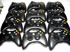 (LOT OF 12) Xbox 360 Wireless Controllers Glossy Black... * Refurbished * READ