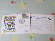 Oxford V PORTSMOUTH Prima Divisione 2 HOME MATCH 1984 CALCIO PRIMO GIORNO DI COPERTURA