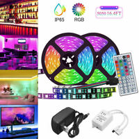 RGB 10M 5050 LED Strip Lights Colour Changing With 44 Key IR Remote Power Supply