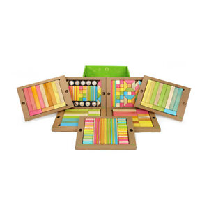 Tegu Magnetic Wooden Blocks Tints Classroom Kit, 240 Pieces