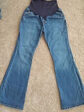 """Maternity Jeans Old Navy """"Hello Pretty Mama""""  32 inseam 10 leg opening Flare 8 R"""