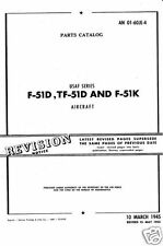 WW2 P-51 MUSTANG  FIGHTER 1940's PARTS SERVICE MANUAL historic period archive