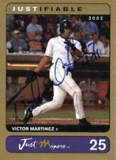 VICTOR MARTINEZ Cleveland Indians 2002 RARE *GOLD* Certified AUTOGRAPH RC xx/100