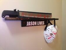 friday the 13th Jason lives Machete Halloween (prop) mask and wall shelf killer