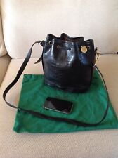 Mulberry Vintage Cross Body Bag Black Congo Leather Excellent Condition. 7e54042f23979