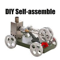 Metal Mini Hot Air Stirling Engine Motor Car Model DIY Science Toy Creative