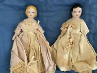 A Pair Of Ruth Gibbs 7 Inch China Head Dolls circa 1946