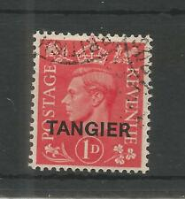 TANGIER 1944 GEORGE 6TH 1d PALE SCARLET SG,252 F/USED LOT 6123A