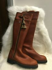 Penelope Chilvers Ginger Tan Riding Boots Leather UK 6 EU 39