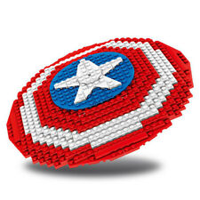 American captain shield Shield ornaments building blocks 405pcs no box