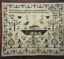 Handwork The 1862 MBS Sampler Cross Stitch Pattern Accurate Reproduction OOP New