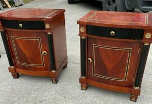 Pair of Night Stands with Cabinet Door, Drawer