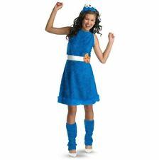 Sesame Street Cookie Monster Plush Dress,Leg Warmers,Headpiece Costume Xl 14-16
