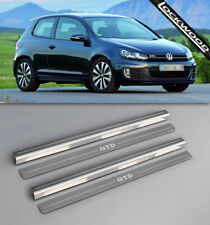VW Golf Mk6 GTD (09-12) 2 Door Upper & Lower Sill Protectors / Kick Plates