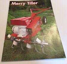 MERRY TILLER Rotavator Wolseley Webb Cultivators Original 1970s Sales Brochure