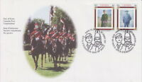 CANADA #1876-1877 46¢ CANADIAN REGIMENTS FIRST DAY COVER - A