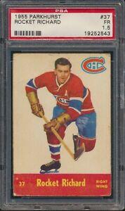 1955-56 Parkhurst Hockey #37 Rocket Richard Montreal Canadiens HOF PSA 1.5 READ