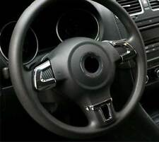 Alu cubierta volante cegar clip cromo Carbon para VW Golf 6 IV jetta Polo V 6r