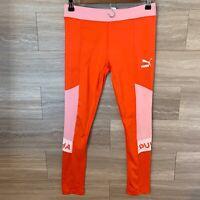 Puma Girls Sz XL (16) Athletic Leggings Coral Pink Full length