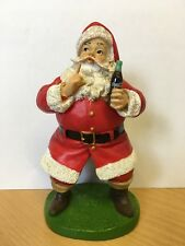 Coca Cola Christmas Resin Ornament Figure - Keep Quiet Santa x1