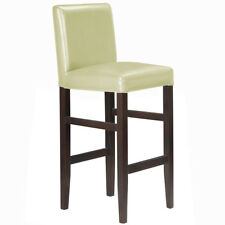 "NEW!  WOOD/LEATHER BARSTOOL - 29"" BAR/COUNTER STOOL - KENDALL-SET OF 4 - CREAM"
