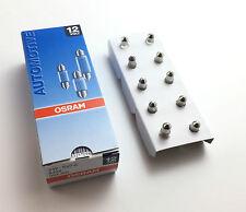 10 x OSRAM LAMP BULBS c3w 12v 3w Interior Lighting 6428 28mm soffitten