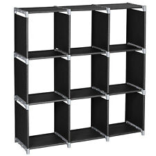 3Tier 9 Compartment Storage Cube Closet Organizer Shelf 9 CubesBookcase Storage