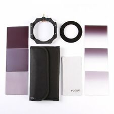 Fotga 4x4 100mm Filter Full Gradual ND2 ND4 ND8 + Holder + 62mm Adapter Ring Kit