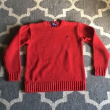 acdfea556 Vintage Polo Ralph Lauren Womens Red Crewneck Knit Sweater XL