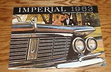 1963 Chrysler Imperial America's Most Carefully Built Car Sales Brochure 63