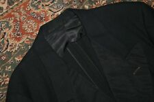 VINTAGE Richman Brothers Black Wool Double Breasted Tuxedo Formal Suit 40 42 R