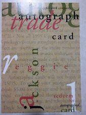 '95 REGGIE JACKSON AUTO Trade Card~1995 Upper Deck~lowered BID ~RARE UD Autograp
