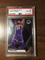 2019-20 Panini Mosaic Lebron James PSA 10 GEM MINT Card #8 Base MVP Lakers